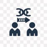 Icona di vettore della clonazione isolata su fondo trasparente, clonazione illustrazione di stock