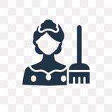 Icona di vettore della domestica isolata su fondo trasparente, trasporto della domestica illustrazione vettoriale