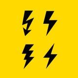 Icona di vettore della freccia di tuono di Bolt Immagine Stock