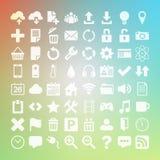 Icona di vettore della lamina piatta universale 64 messa per il web Fotografie Stock