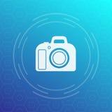 Icona di vettore della macchina fotografica di DSLR Fotografie Stock