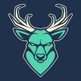 Icona di vettore della mascotte dei cervi royalty illustrazione gratis