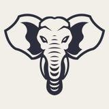 Icona di vettore della mascotte dell'elefante illustrazione di stock