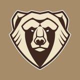 Icona di vettore della mascotte dell'orso illustrazione di stock