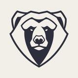 Icona di vettore della mascotte dell'orso royalty illustrazione gratis