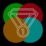 Icona di vettore della medaglia illustrazione di stock