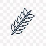Icona di vettore della punta isolata su fondo trasparente, Spi lineare illustrazione vettoriale