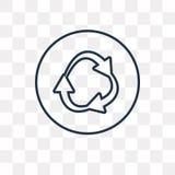 Icona di vettore della rotonda isolata su fondo trasparente, linea illustrazione vettoriale