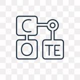 Icona di vettore della tavola periodica isolata su fondo trasparente, l illustrazione di stock