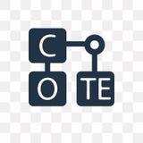Icona di vettore della tavola periodica isolata su fondo trasparente, P royalty illustrazione gratis
