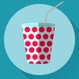 Icona di vettore della tazza di carta Immagine Stock