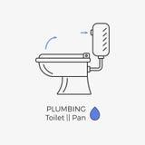 Icona di vettore della toilette Royalty Illustrazione gratis