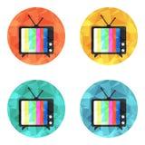 Icona di vettore della TV Fotografie Stock Libere da Diritti