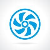 Icona di vettore della vite del ventilatore Immagine Stock