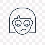 Icona di vettore delle feccie isolata su fondo trasparente, feccie lineari t illustrazione vettoriale