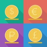 Icona di vettore delle monete Fotografie Stock
