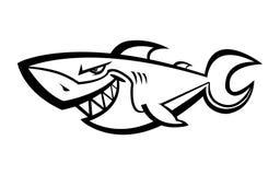 Icona di vettore dello squalo illustrazione di stock