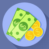 Icona di vettore di denaro contante Immagini Stock Libere da Diritti