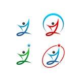 icona di vettore di logo di simbolo della gente Immagine Stock