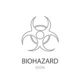 Icona di vettore di rischio biologico illustrazione di stock