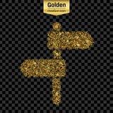 Icona di vettore di scintillio dell'oro Fotografia Stock Libera da Diritti