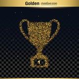 Icona di vettore di scintillio dell'oro Immagine Stock