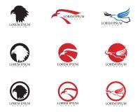 Icona di vettore di Eagle Bird Logo Template del falco Immagine Stock Libera da Diritti