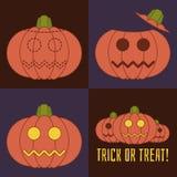 Icona di vettore di Halloween messa con le zucche illustrazione di stock