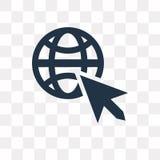 Icona di vettore di Internet isolata su fondo trasparente, interno illustrazione di stock