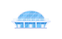 Icona di vettore isolata stadio moderno di sport Fotografia Stock Libera da Diritti
