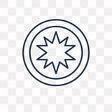 Icona di vettore di occultismo su fondo trasparente, lineare illustrazione di stock
