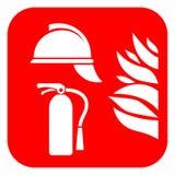 Icona di vettore di protezione antincendio illustrazione vettoriale