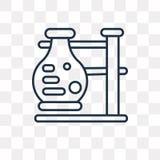 Icona di vettore di reazione chimica isolata su fondo trasparente illustrazione di stock