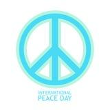 Icona di vettore di simbolo di pace nei colori leggeri per il manifesto Immagine Stock