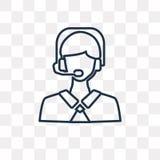 Icona di vettore di Telemarketer isolata su fondo trasparente, Lin illustrazione vettoriale
