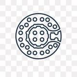 Icona di vettore di Zorbing isolata su fondo trasparente, Z lineare royalty illustrazione gratis