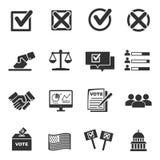 Icona di voto Immagine Stock