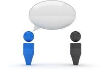icona di Web 3d - dialogo, osservazioni Fotografie Stock Libere da Diritti