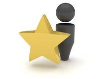 icona di Web 3d - favoriti Fotografia Stock