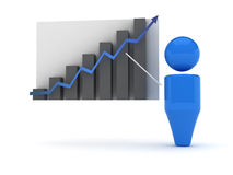 icona di Web 3d - Stats Fotografia Stock