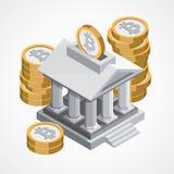Icona di web di Bitcoin Fotografia Stock