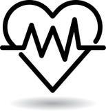 Icona di web del battito cardiaco illustrazione di stock