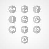 Icona di web dell'insieme di simboli Fotografia Stock Libera da Diritti