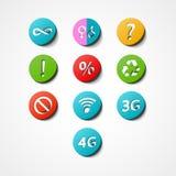 Icona di web dell'insieme di simboli Fotografie Stock