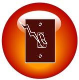 Icona di Web dell'interruttore chiaro   Fotografia Stock