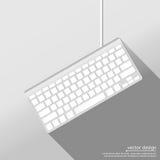 Icona di web della tastiera di computer Immagine Stock