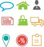 Icona di web di commercio elettronico Fotografie Stock