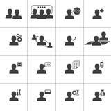 Icona di web di informazioni e del contatto, illustrati di vettore Fotografia Stock