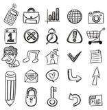 Icona di Web di tiraggio della mano Immagine Stock