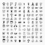 icona di Web di tiraggio delle 100 mani Fotografie Stock Libere da Diritti